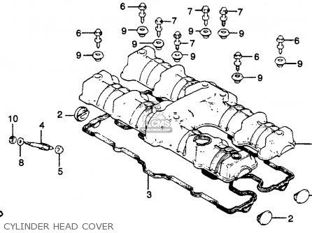 Honda Cb750k 750 Four K 1979 z Usa Cylinder Head Cover
