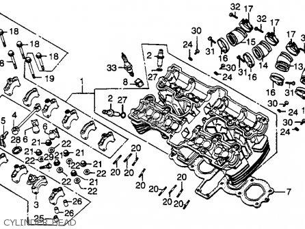Honda Cb750k 750 Four K 1979 z Usa Cylinder Head