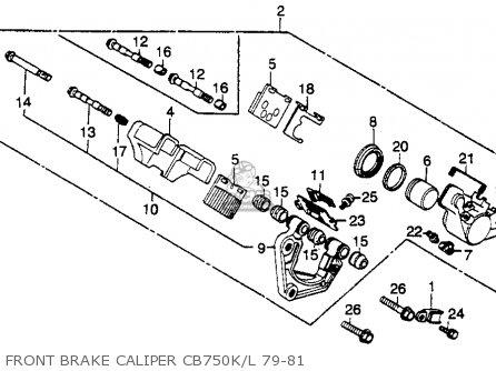 Honda Cb750k 750 Four K 1979 z Usa Front Brake Caliper Cb750k l 79-81