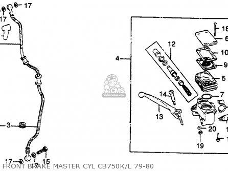 Honda Cb750k 750 Four K 1979 z Usa Front Brake Master Cyl Cb750k l 79-80