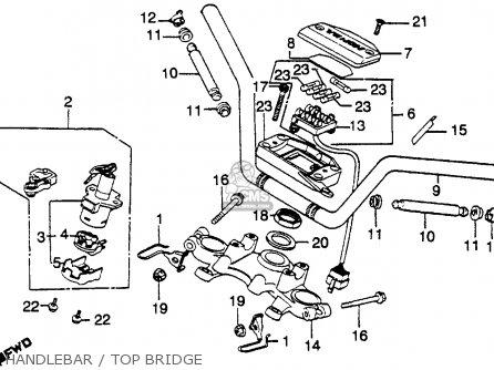 Honda Cb750k 750 Four K 1979 z Usa Handlebar   Top Bridge