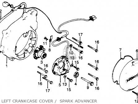 Honda Cb750k 750 Four K 1979 z Usa Left Crankcase Cover    Spark Advancer