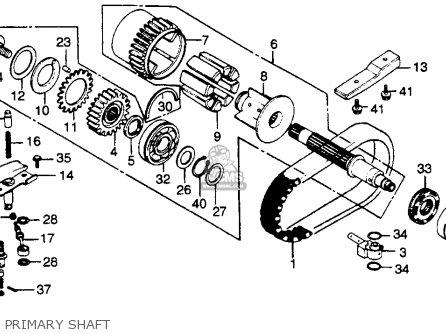 Honda Cb750k 750 Four K 1979 z Usa Primary Shaft