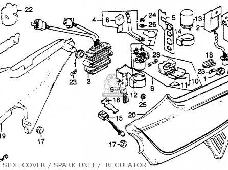 Honda Cb750k 750 Four K 1979 z Usa Side Cover   Spark Unit    Regulator