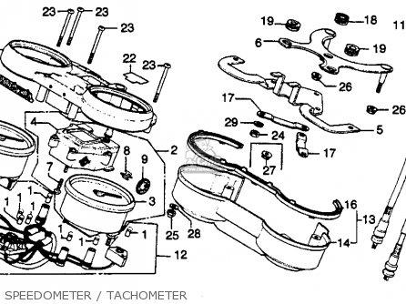 Honda Cb750k 750 Four K 1979 z Usa Speedometer   Tachometer