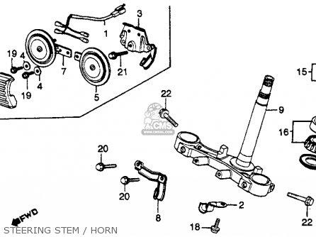 Honda Cb750k 750 Four K 1979 z Usa Steering Stem   Horn