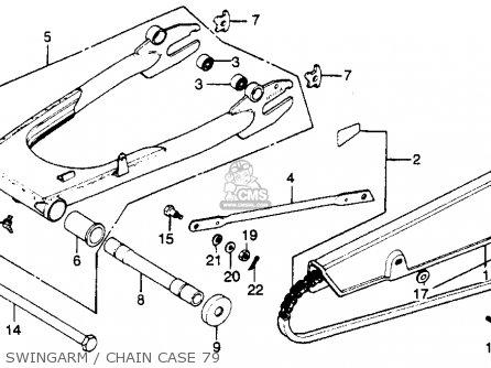 Honda Cb750k 750 Four K 1979 z Usa Swingarm   Chain Case 79