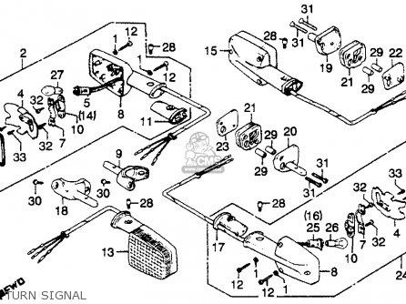 Honda Cb750k 750 Four K 1979 z Usa Turn Signal