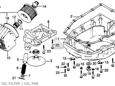 honda cb750k 750 four k 1981  b  usa parts lists and