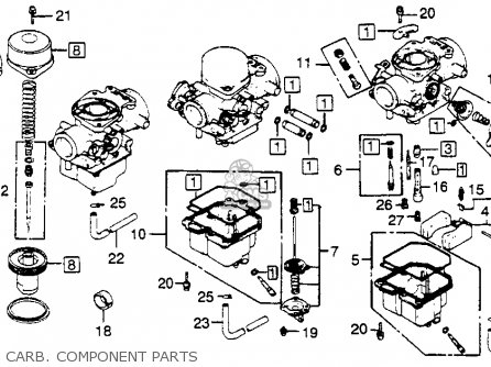 honda cb750k 750 four k 1982  c  usa parts list
