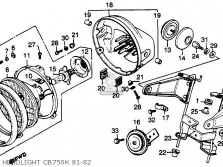 Honda Cb750k 750 Four K 1982 C Usa Parts Lists And Schematics