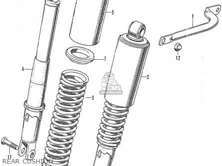 honda cb750k0 four 1969 usa parts list partsmanual partsfiche