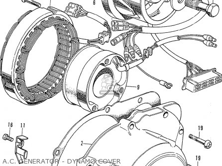 honda cb750k2 four 1972 usa parts lists and schematics 1987 Nissan Pickup Wiring Diagram a c generator dynamo cover