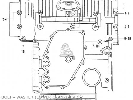 Honda Cb750k2 Four France Bolt - Washer lower Crankcase