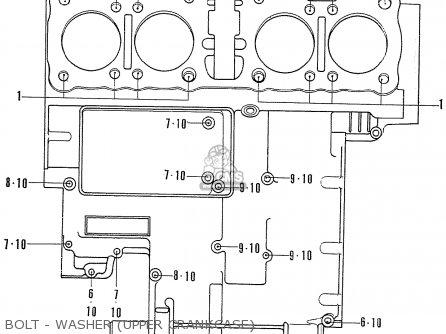 Honda Cb750k2 Four France Bolt - Washer upper Crankcase