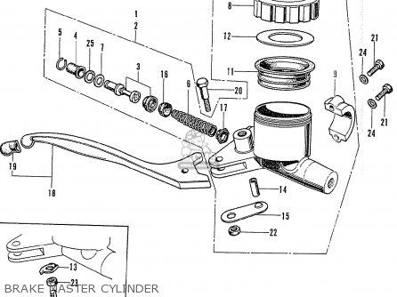 Honda Cb750k2 Four France Brake Master Cylinder