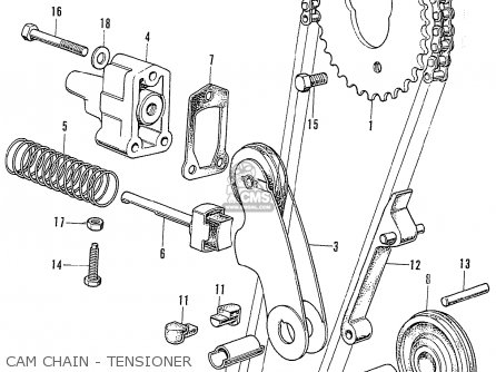 Honda Cb750k2 Four France Cam Chain - Tensioner