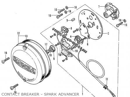 Honda Cb750k2 Four France Contact Breaker - Spark Advancer