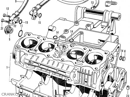 Honda Cb750k2 Four France Crankcase