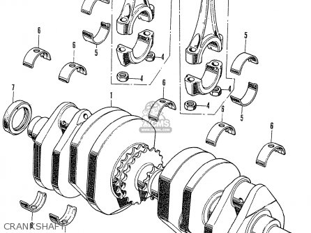 Honda Cb750k2 Four France Crankshaft