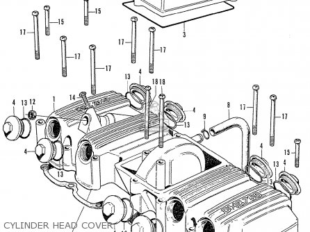 Honda Cb750k2 Four France Cylinder Head Cover