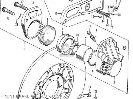 Honda Cb750k2 Four France Front Brake Caliper - Disk
