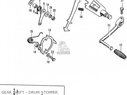 Honda Cb750k2 Four France Gear Shift - Drum Stopper