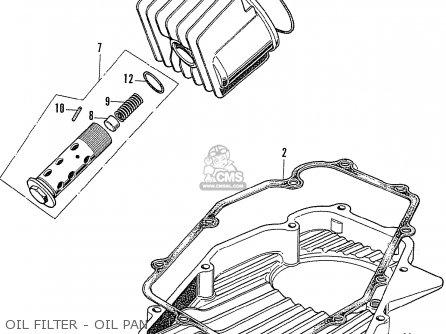 Honda Cb750k2 Four France Oil Filter - Oil Pan