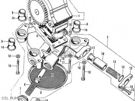 Honda Cb750k2 Four France Oil Pump
