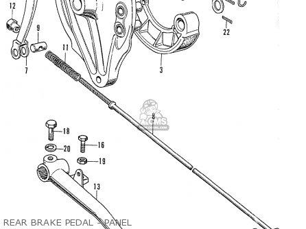 Honda Cb750k2 Four France Rear Brake Pedal - Panel