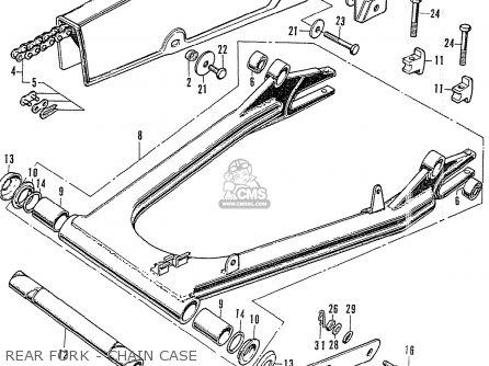 Honda Cb750k2 Four France Rear Fork - Chain Case