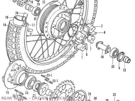 Honda Cb750k2 Four France Rear Wheel - Driven Sprocket