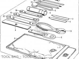 Honda Cb750k2 Four France Tool Bag - Tool