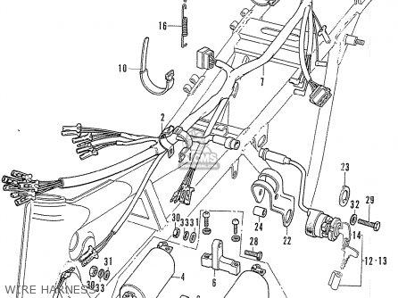 Honda Cb750k2 Four France Wire Harness