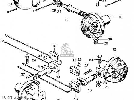 honda cb750k3 four 1973 usa parts lists and schematicsturn signal i