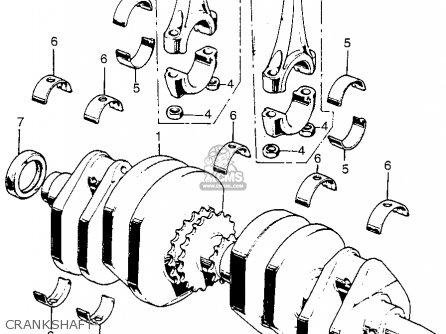 honda cb750k4 four 1974 usa parts lists and schematics Honda Outboard Tachometer crankshaft