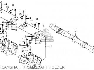Honda CB750K6 FOUR 1976 USA parts lists and schematics on