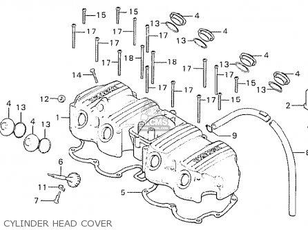 Honda CB750K6 FOUR ENGLAND parts lists and schematics on