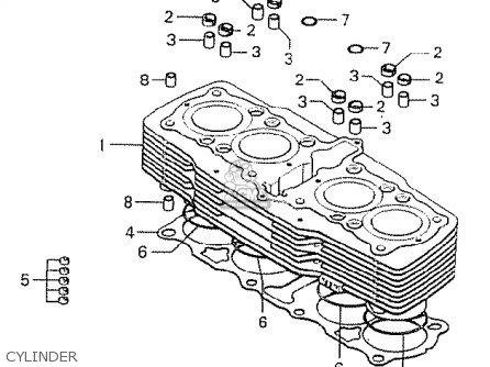 Honda Cb750k6 Four England Parts Lists And Schematics
