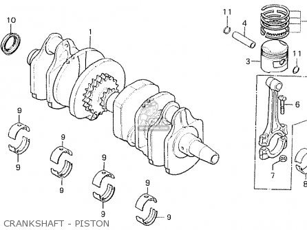 Honda Cb750k7 Four england Crankshaft - Piston