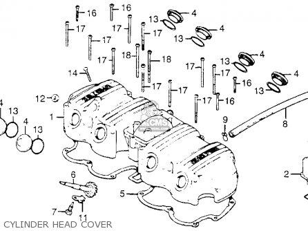 Honda CB750K8 FOUR 1978 USA parts lists and schematics