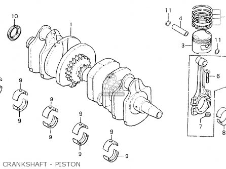 Honda Cb750k8 Four canada Crankshaft - Piston