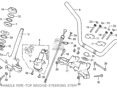 Honda Cb750k8 Four canada Handle Pipe-top Bridge-steering Stem