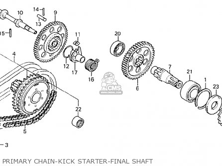 Honda Cb750k8 Four canada Primary Chain-kick Starter-final Shaft