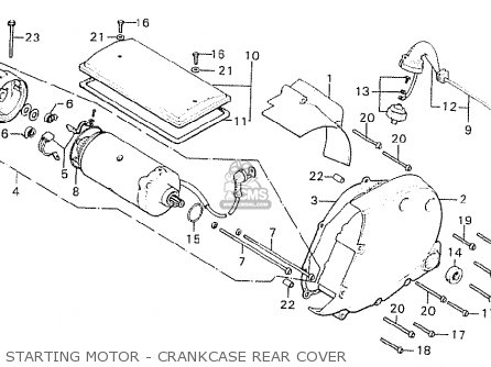Honda Cb750k8 Four canada Starting Motor - Crankcase Rear Cover