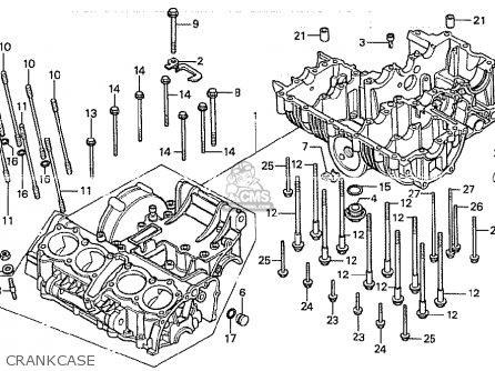 Honda Cb750ka 1980 Four england Crankcase