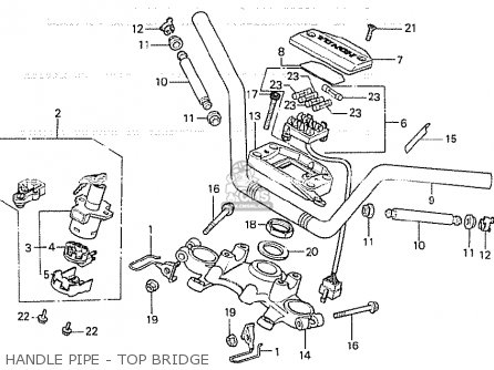Honda Cb750ka 1980 Four england Handle Pipe - Top Bridge
