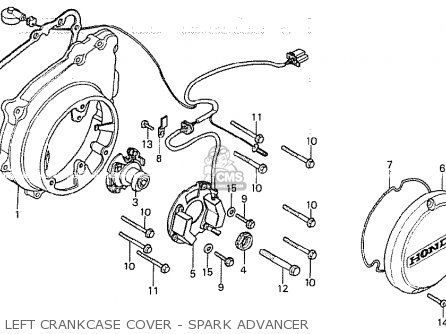 Honda Cb750ka 1980 Four england Left Crankcase Cover - Spark Advancer