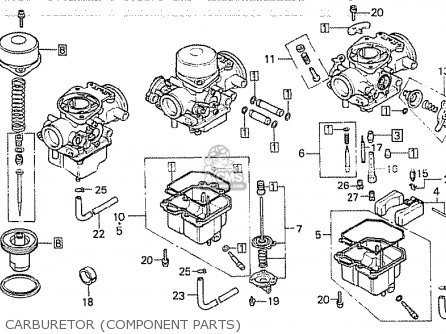 Honda Cb750kz 1979 Four european Direct Sales Carburetor component Parts