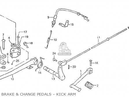 Honda Cb750p7-ii canada Brake  Change Pedals - Kick Arm